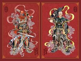 《死侍2:我爱我家》中国风门神海报