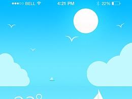 一套天气UI