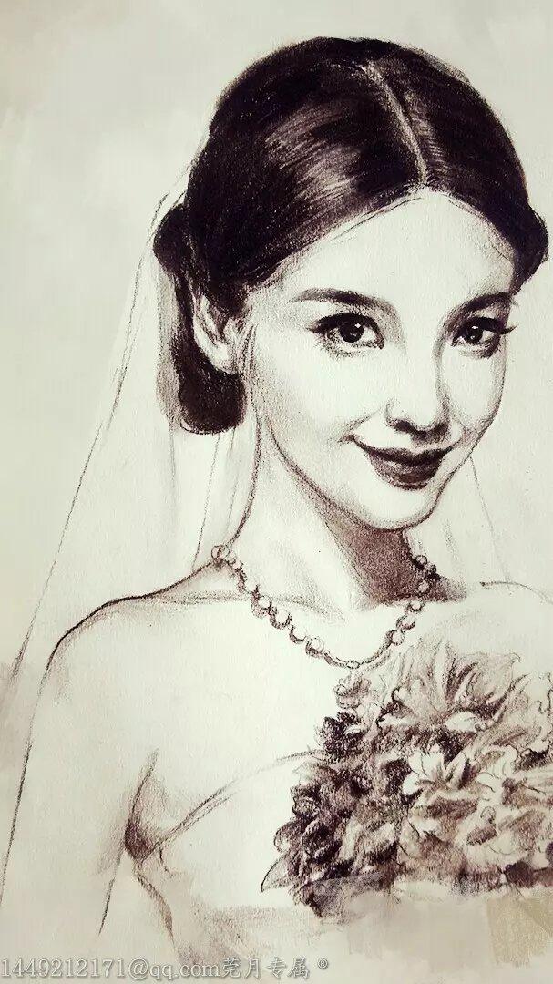杨颖素描画手绘图