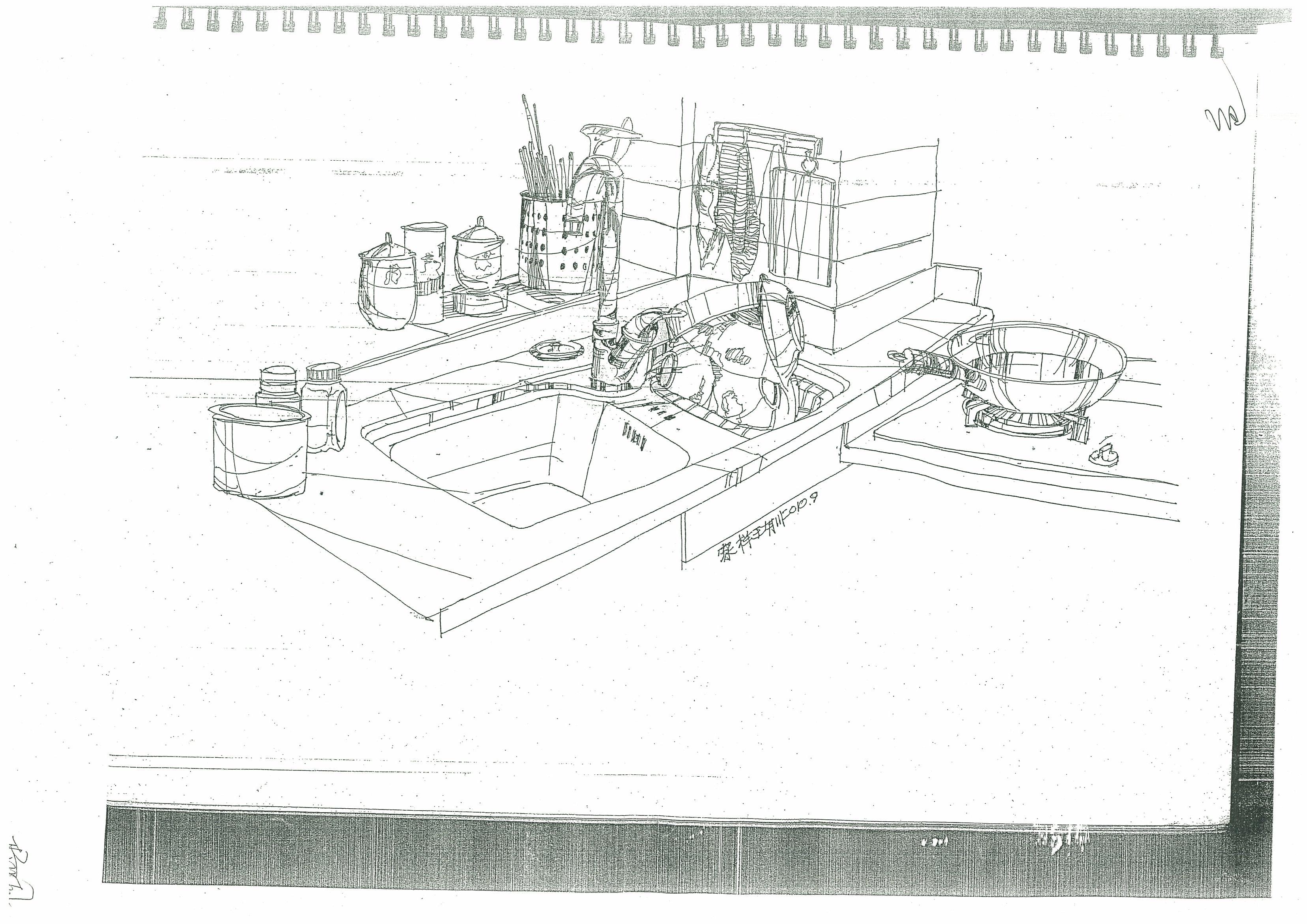 小居室手绘平面