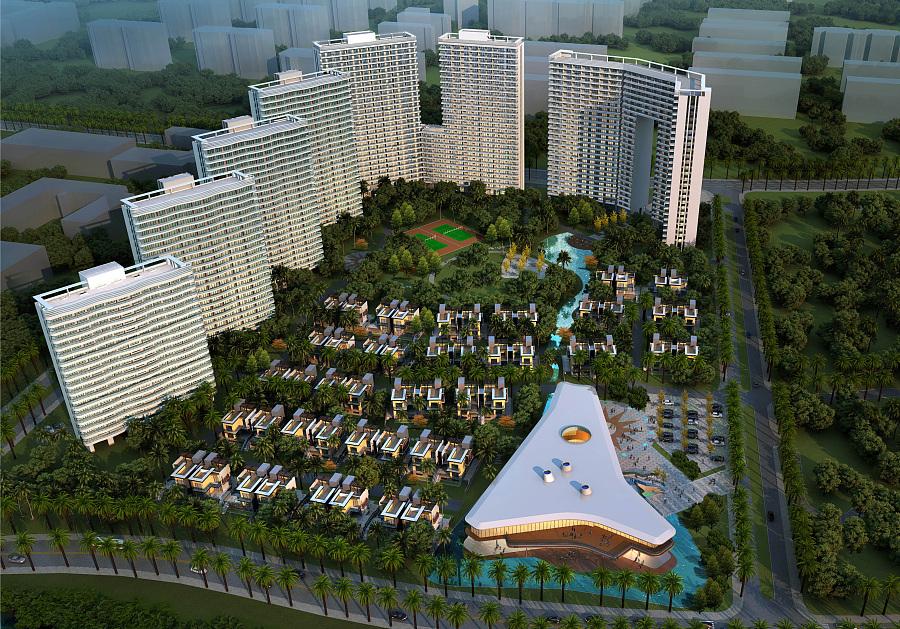 中信国安北海第一城首开区照明概念方案设计|