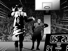未来,是我的! 为 NBA 2KONLINE2 创作的篮球主题漫画