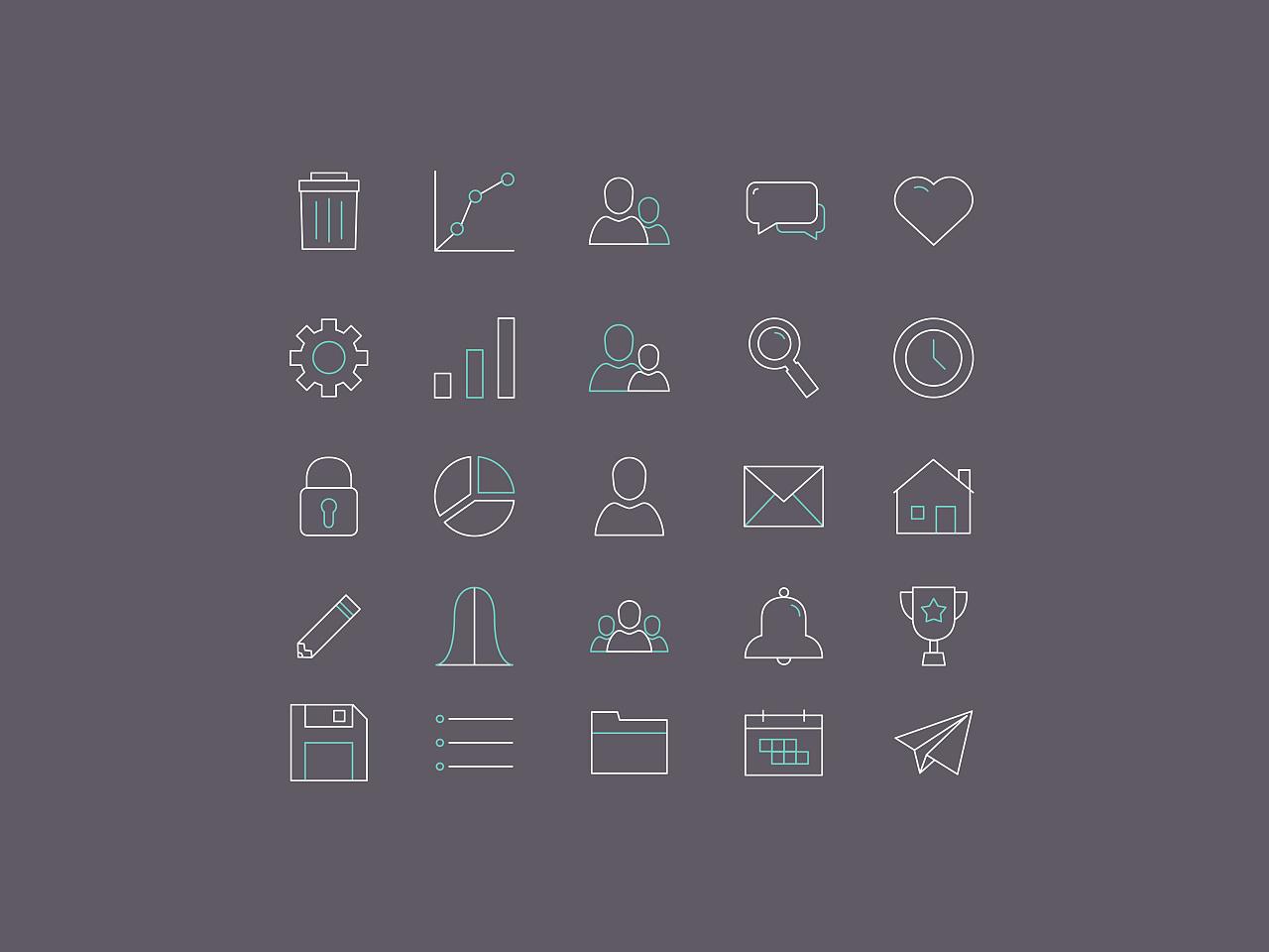 简单的线条<strong>icons</strong>