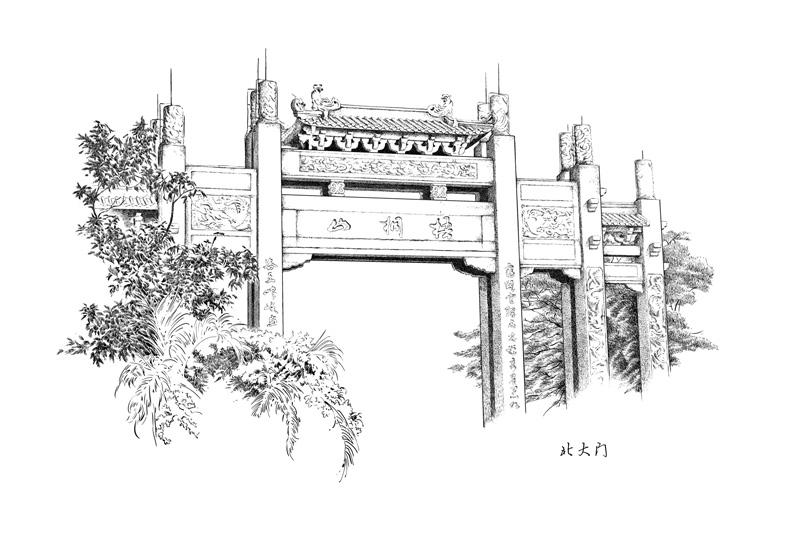 楚歌钢笔画-风景系列
