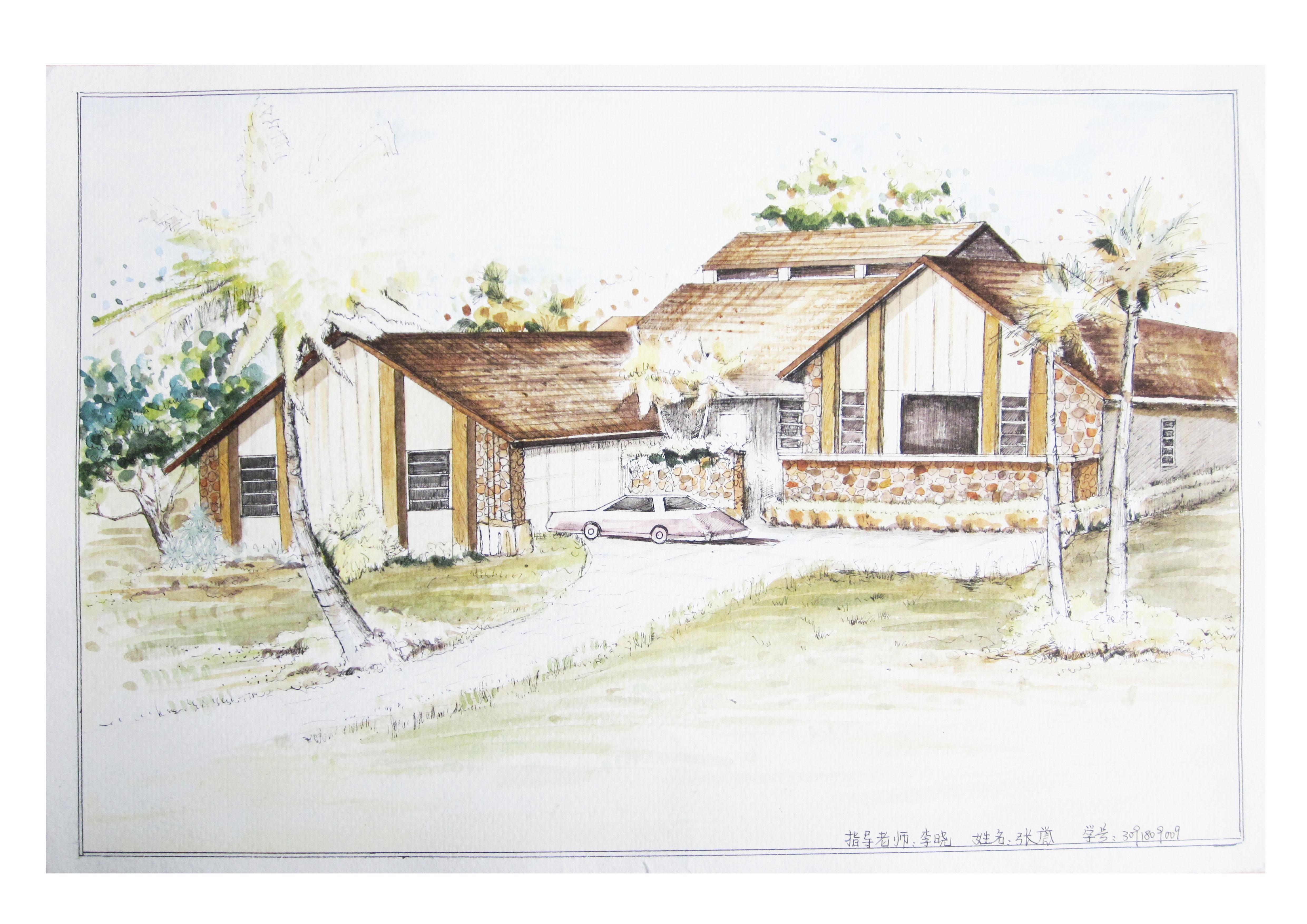 建筑画系列图片