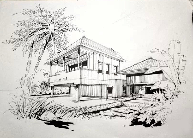 建筑设计手绘