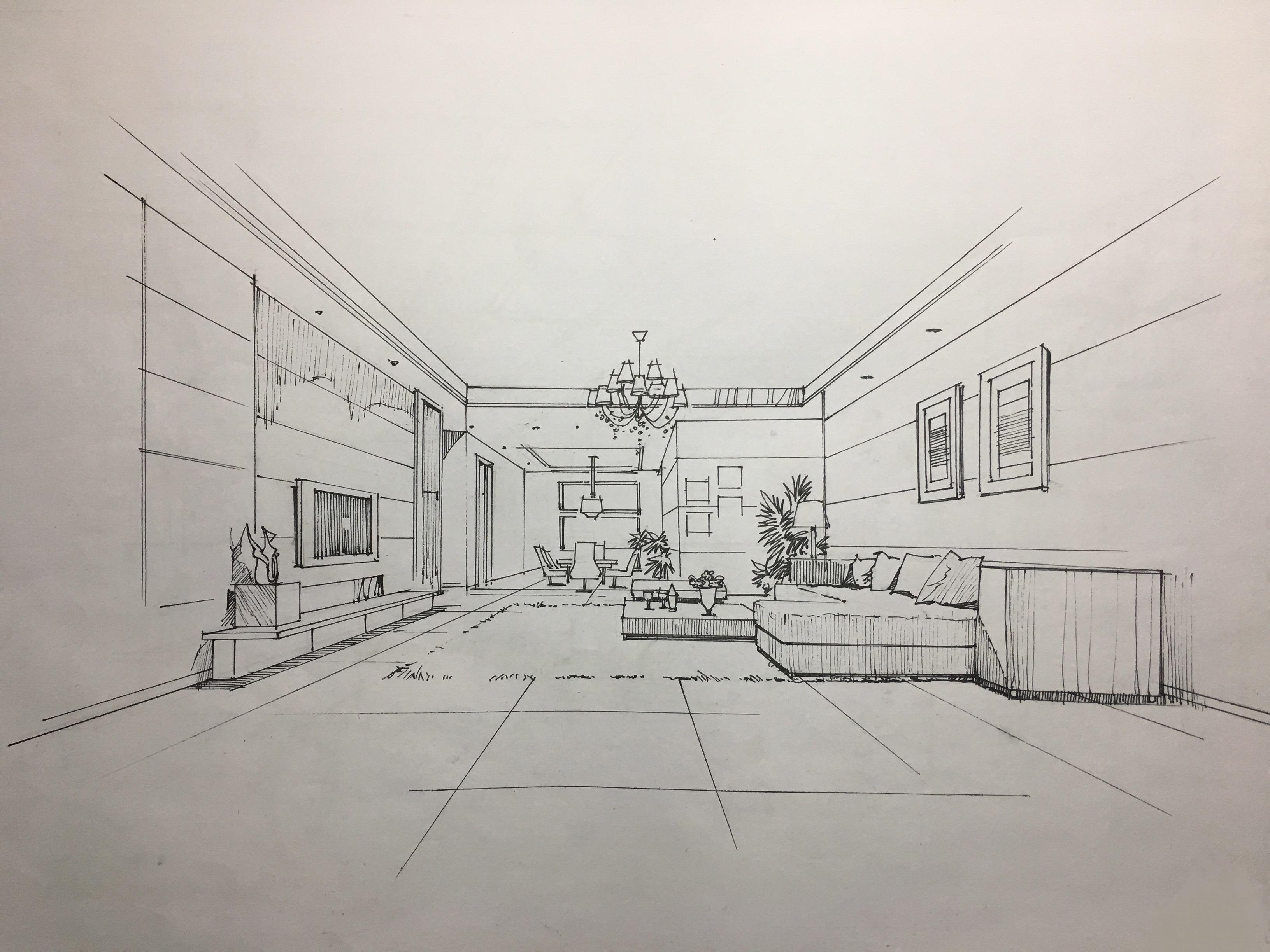 室内手绘临摹练习 空间 室内设计 靇羏syy - 原创作品