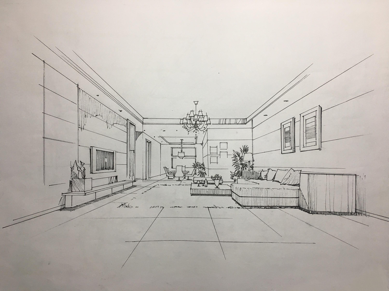 室内手绘临摹练习|空间|室内设计|靇羏syy - 原创作品