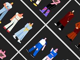 缪缪插画-15张个性化服饰插画