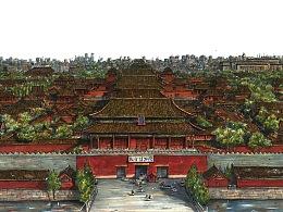 马克笔手绘《北京·故宫》