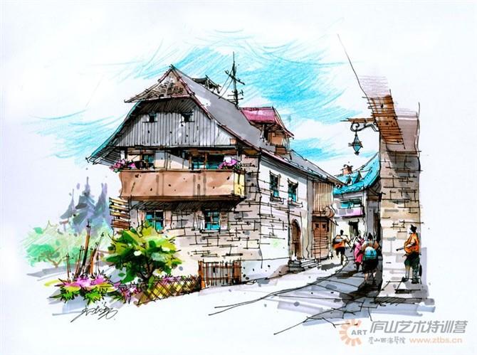 【庐山艺术特训营】尚院长手绘作品 室内设计 空间