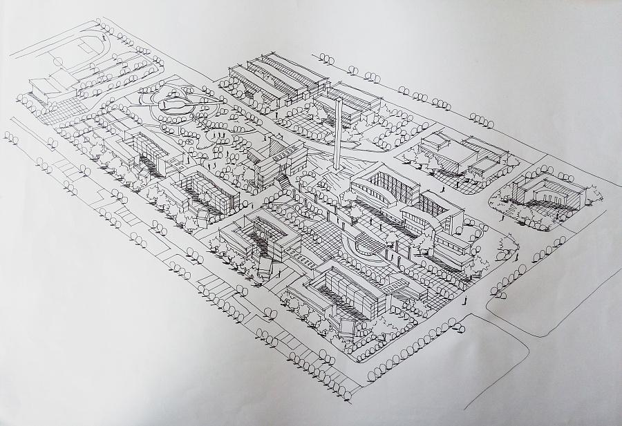 规划类手绘图 建筑设计 空间/建筑 鹿小尤