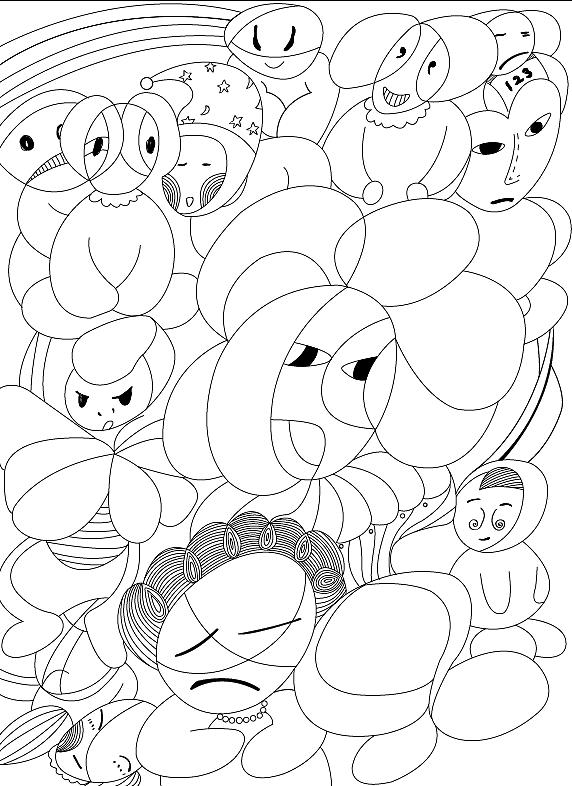 黑白线稿|插画|插画习作|张可口可乐 - 原创作品
