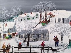 客厅博物馆的雪景油画,怎一个美字了得