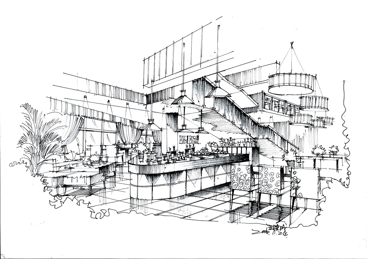 室内线稿图|空间|室内设计|汪建成 - 原创作品 - 站酷