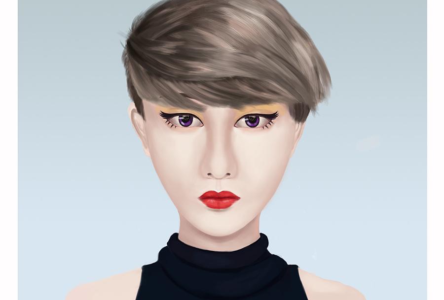 [手绘练习] 短发女生|绘画习作|插画|wujuling