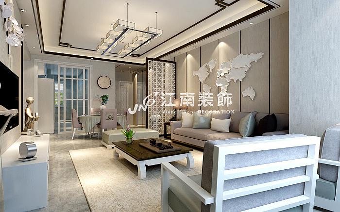 哈尔滨江南装饰公司都柏林新中式风格装修效果图