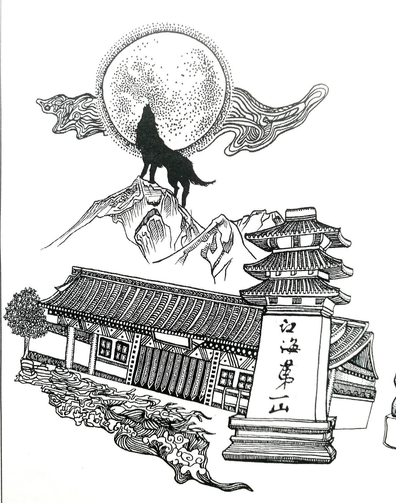 手绘南通(一)|插画|绘本|茹果room - 原创作品 - 站酷