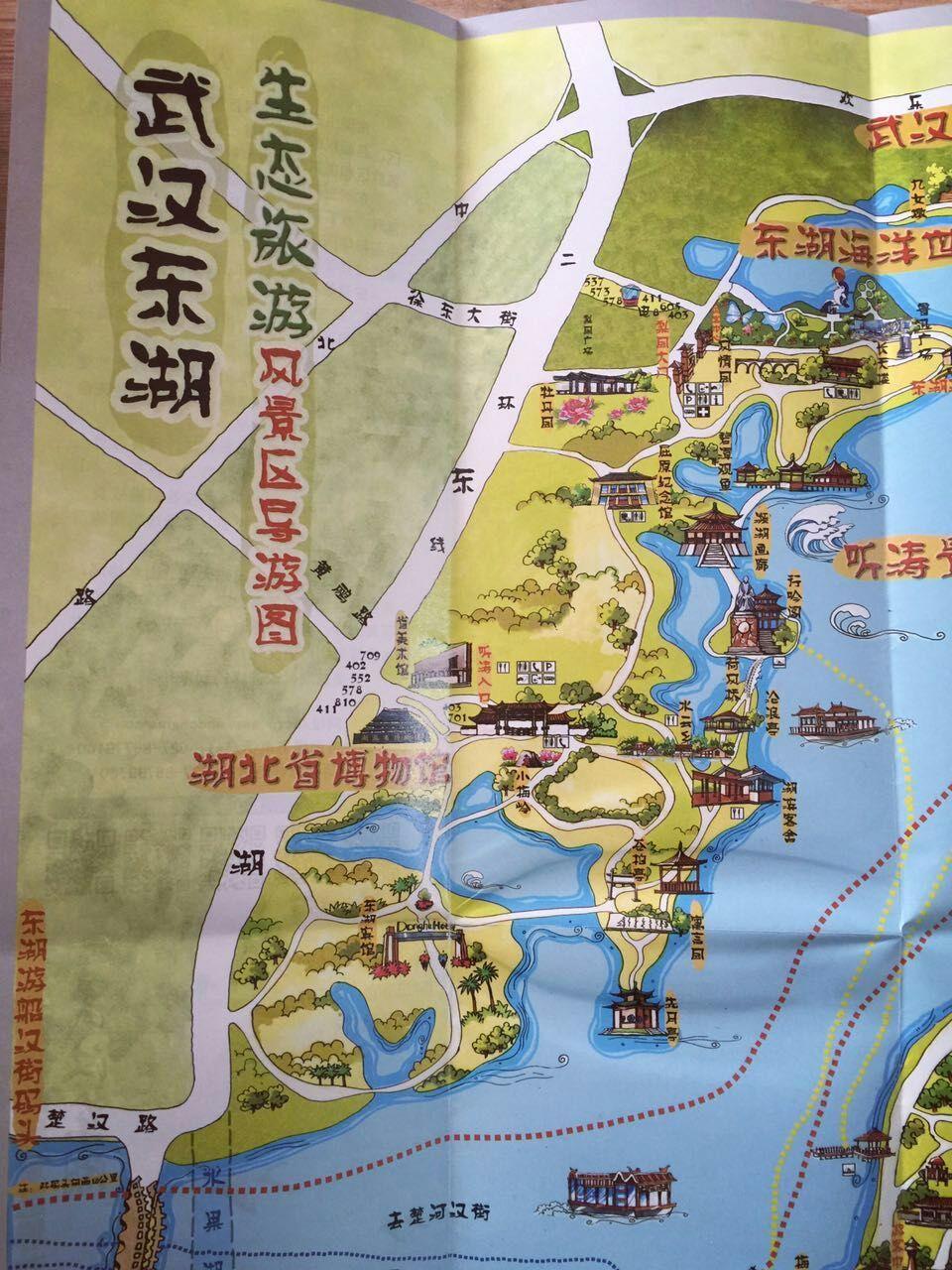 武汉东湖手绘地图-绘林设计