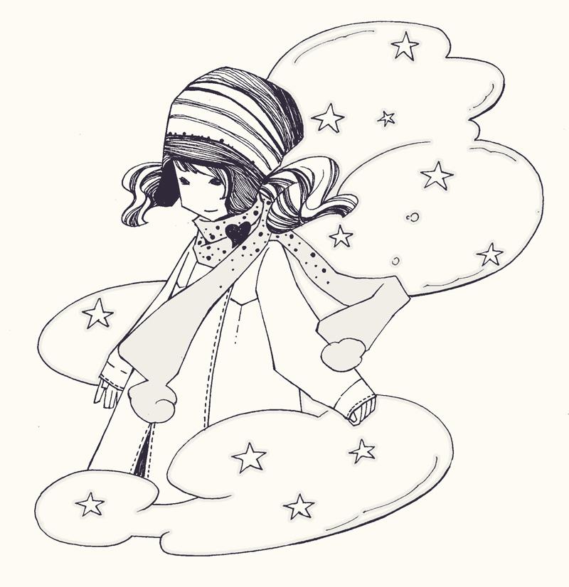 儿童黑白小插图2|商业插画|插画|zhuazhua83