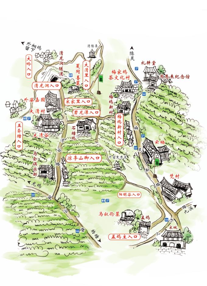 原创作品:手绘地图