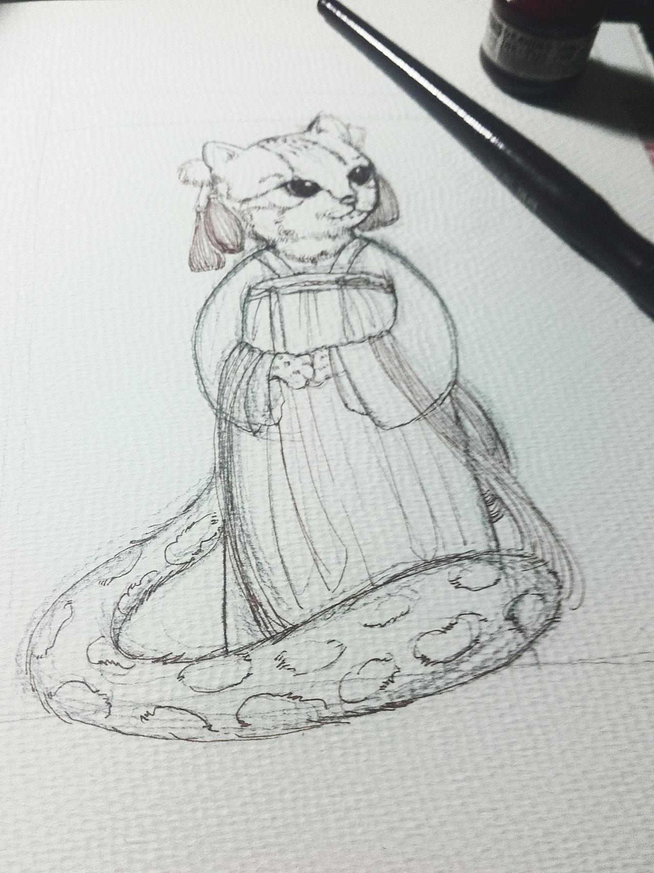 手绘素描简笔动物图片