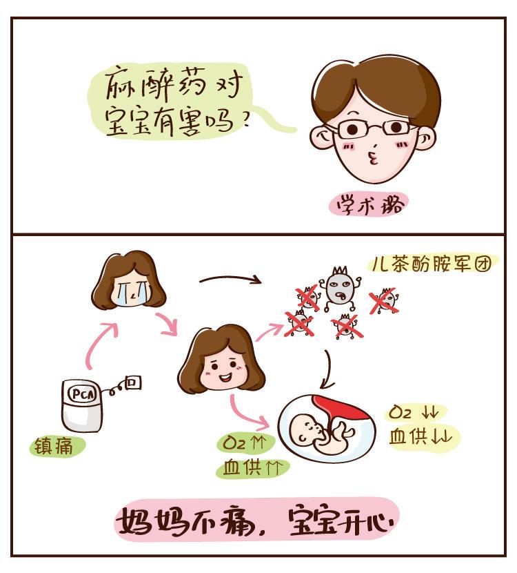 分娩知识手绘漫画