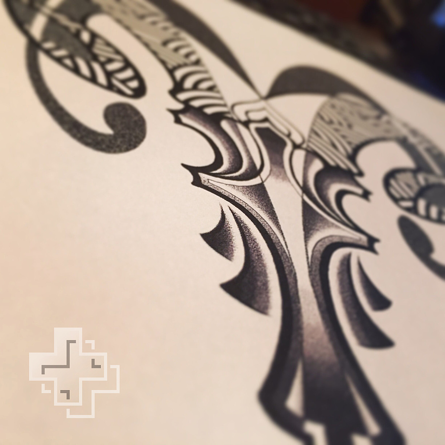 纹身手稿——白羊座|商业插画|插画|2nu7lg