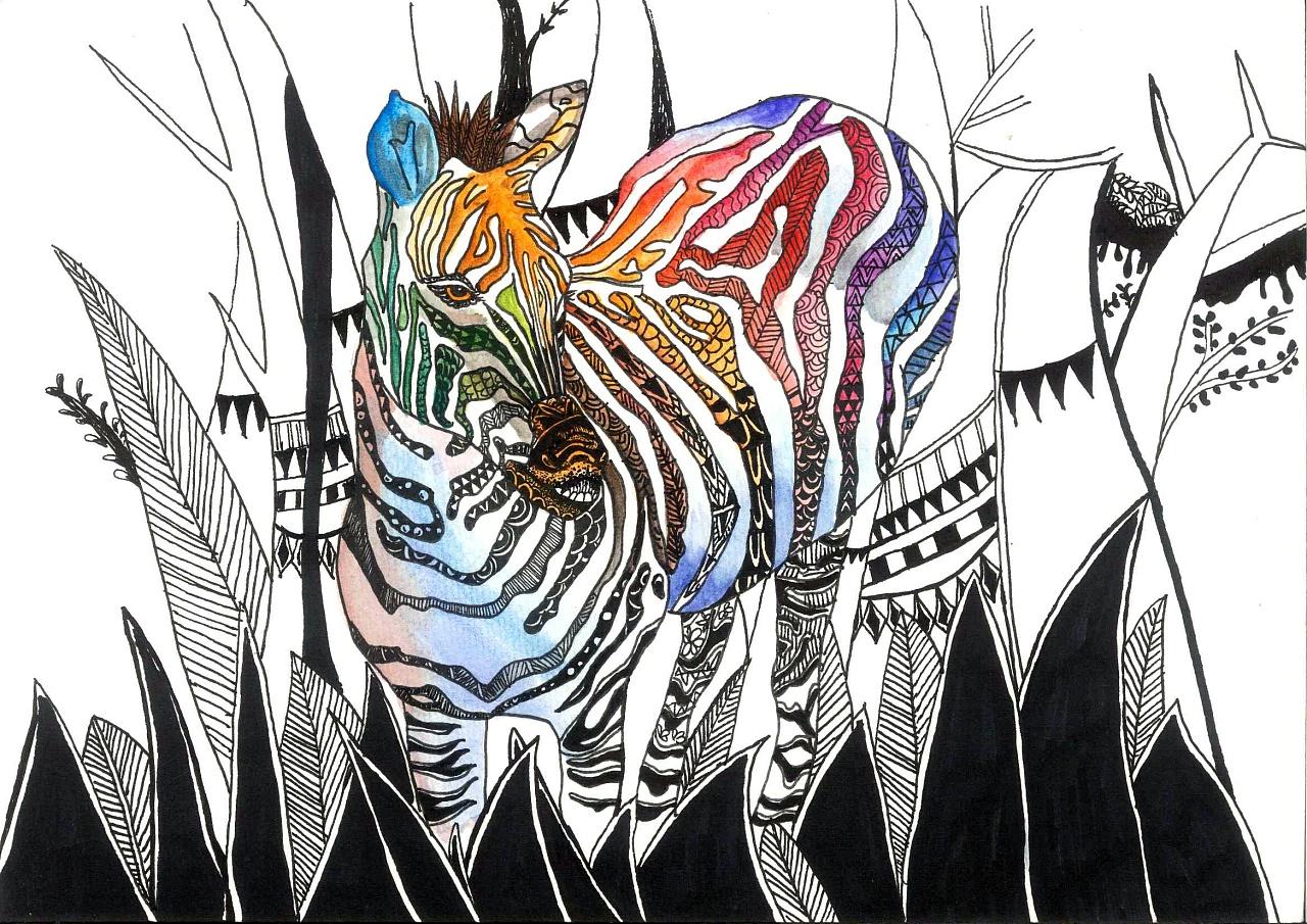 装饰画|插画|插画习作|叫我大白兔 - 原创作品 - 站酷图片