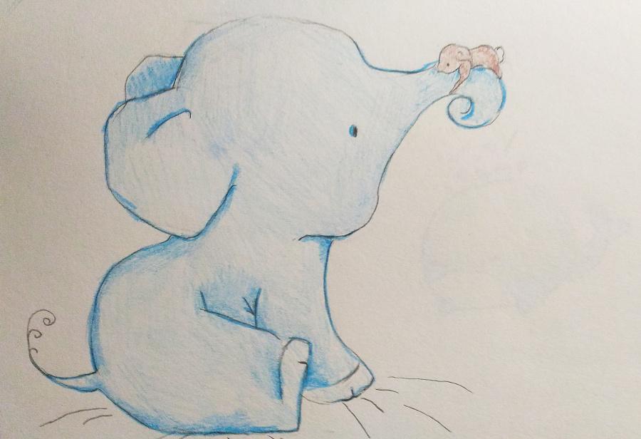 动物手绘练习 彩铅上色|绘画习作|插画|肖大宝0725