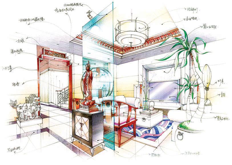 我的室内手绘效果图|空间|室内设计|steve_william