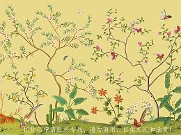 花鸟插画/壁画集合