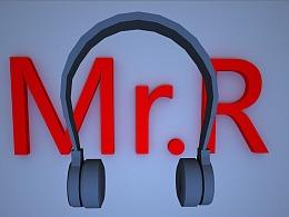 工业级耳机建模+渲染 来自R站-小仙女