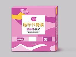浅间魔芋代餐粥盒装和内包装设计