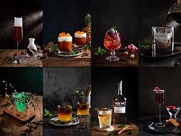 鸡尾酒 暗调 特调咖啡 美食摄影