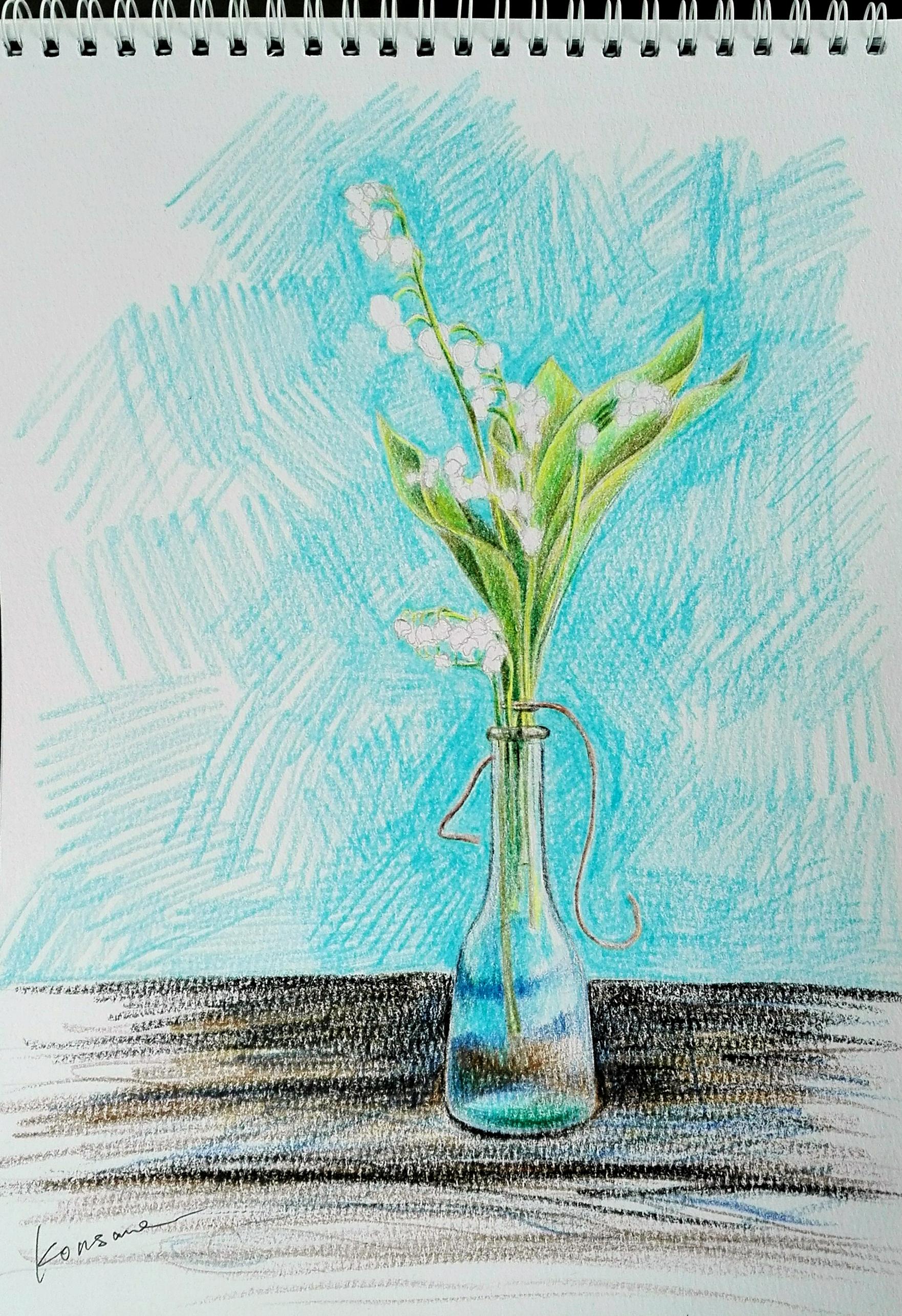 根据照片画的一副彩铅手绘习作
