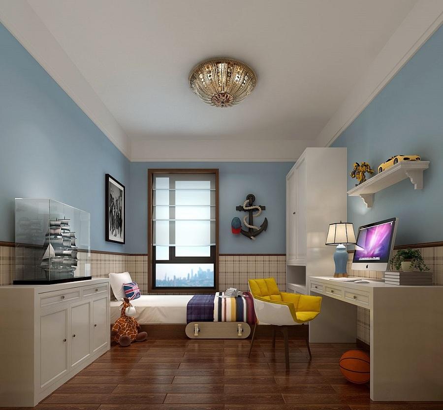海马公园200平米港式风格装修设计效果图|室内设计图片