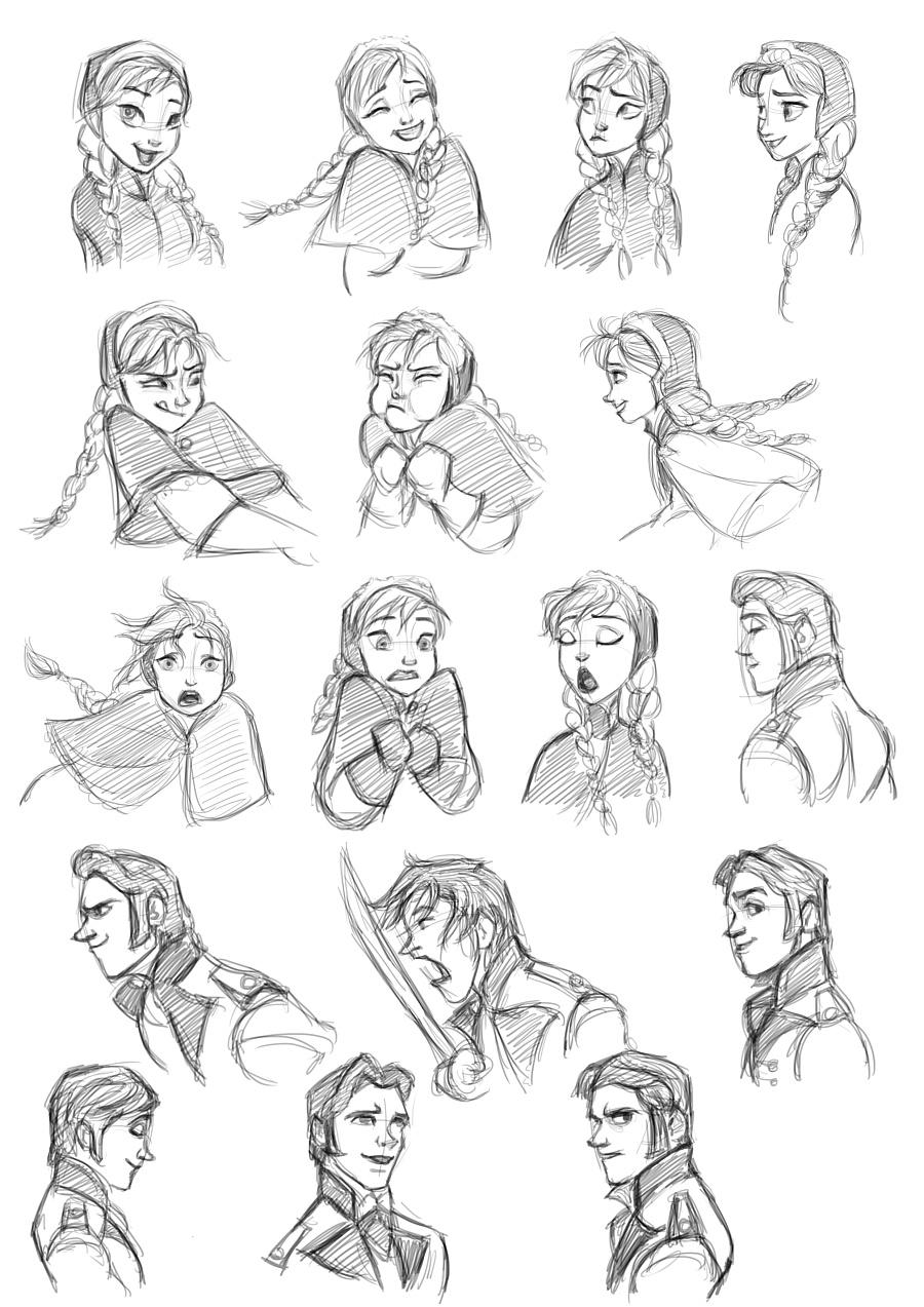 迪士尼·冰雪奇缘·角色设计