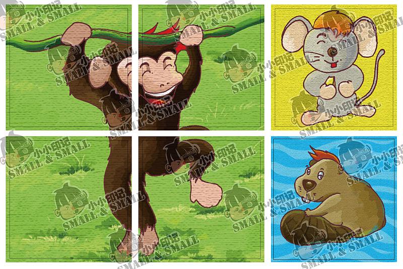 一套手绘游戏动物插图