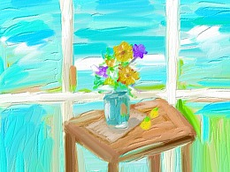 illustration / Green / Flower / Threemeow / Desig
