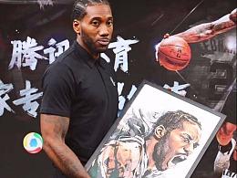 NBA马刺球星莱昂纳德篮球插画,美漫卡通