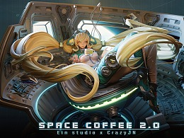 Space Coffee | EinStudio x CrazyJN 联名雕像