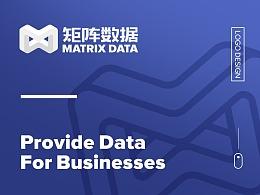 矩阵数据logo design