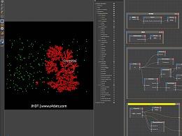 C4D教程:使用C4D粒子系统对病毒的传播过程进行可视化
