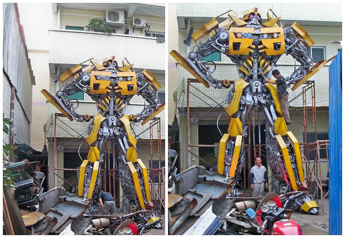 【金属诱惑】6米大黄蜂面世#变形金刚