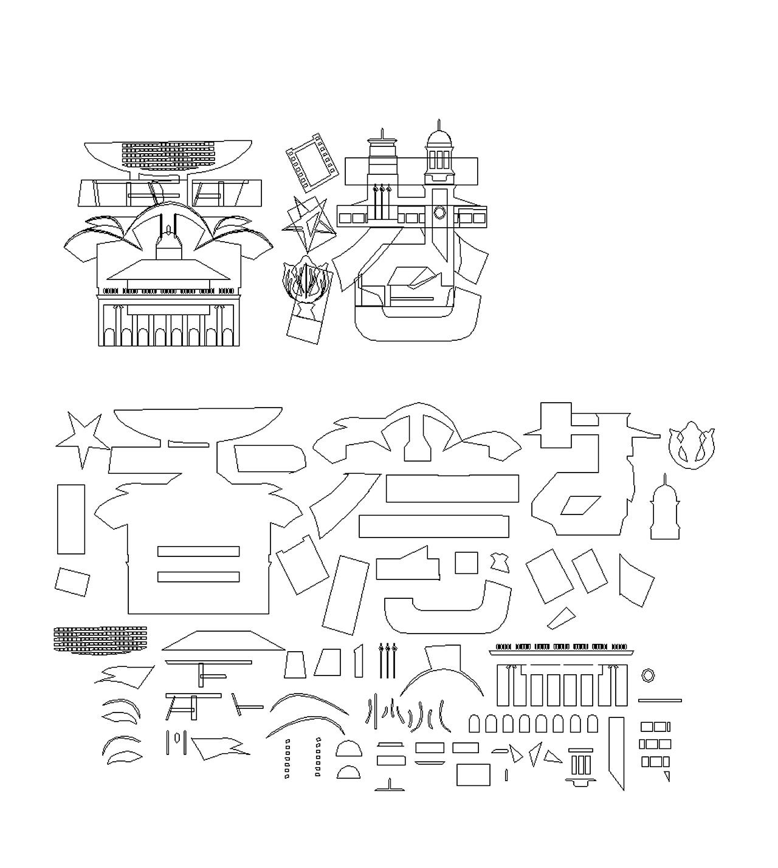插画建筑字体v插画手绘创意城市,明信片,字体挂哈尔滨工业大学平面设计图片