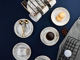 摄影:大理石咖啡杯