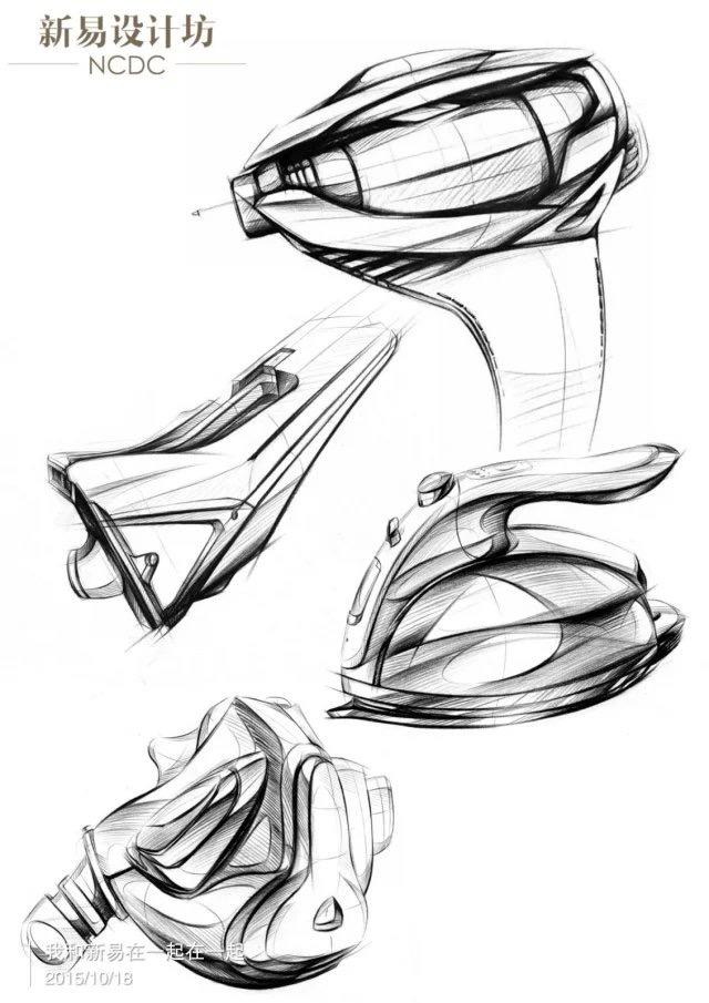 工业设计手绘;工业设计手绘彩铅精致表达|电子产品