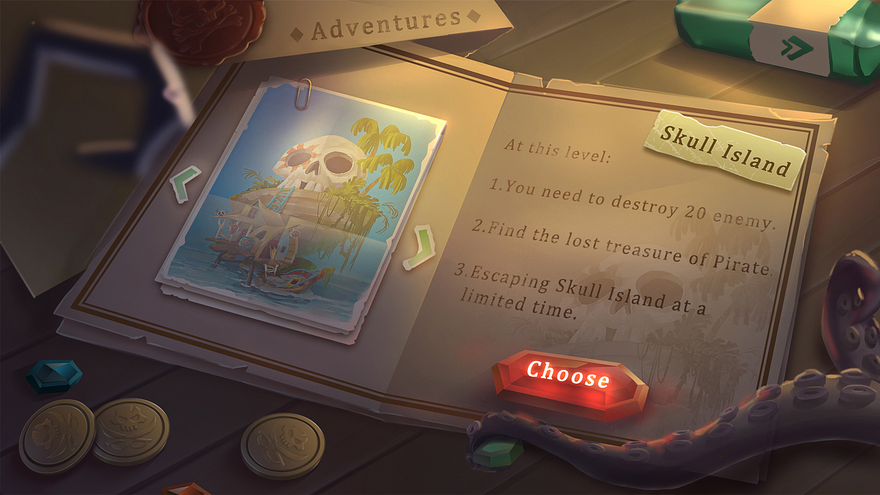 《captain hook's treasure》个人小练习