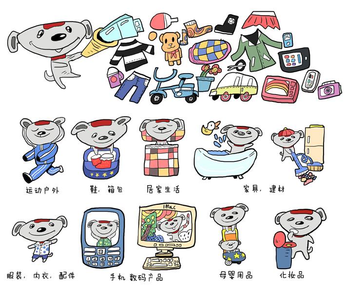 京东商城吉祥物joy衍生设计图片